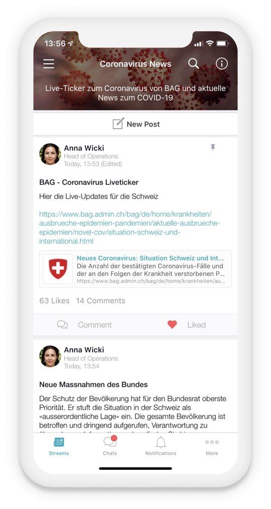 Beekeeper – Next-Normal-Paket für Mitarbeiter-App