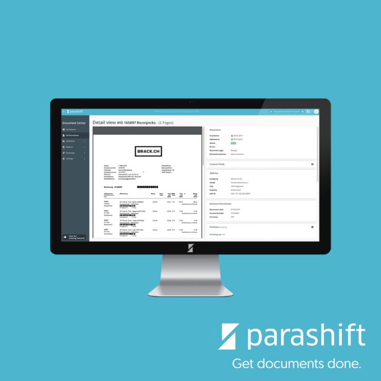 Parashift – kümmert sich um die Dokumentenautomation
