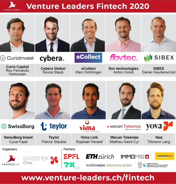 Schweizer Fintech-Nationalmannschaft 2020: 10 Fintech-Startups bereiten sich vor, ihr globales Wachstum mit Venture Leaders zu beschleunigen